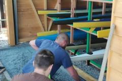 Příprava na položení zámkové dlažby